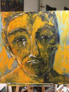 Portrait Schwarz Gelb